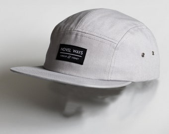 Novel Ways Cool Grey 5 panel cap