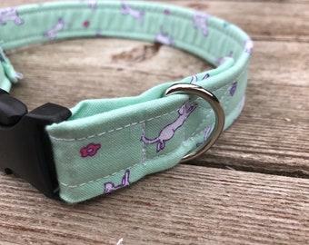 "Handmade Dog Collar - ""Minty"""