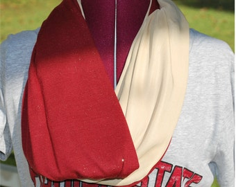 FSU Florida State Seminoles Game Day Infinity Circle Scarf Garnet and Gold