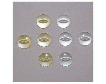 40 x buttons basic 14 mm 2 holes set N - 000823