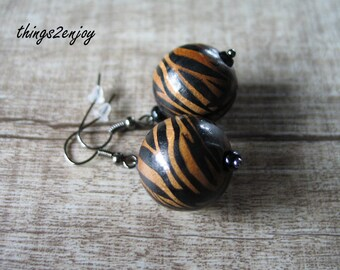Earrings-Tiger