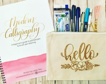 Modern Calligraphy Lettering Guide GIFT SET