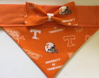 Dog Bandana made from University of Tennessee Fabric