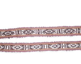 Peruvian Inca hand made alpaca belt/ headband