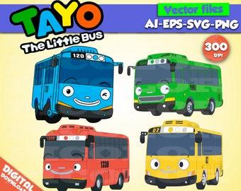 little bus tayo etsy