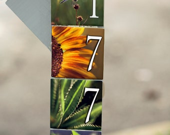 4x4-inch photo house number tile