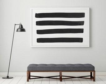 Black and White Wall Art, Black And White Prints, Large Wall Art, Black White Art, Abstract Art Print, Black White Painting, Minimalist Art