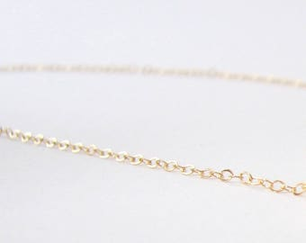 Thin Gold Chain, 14K Gold Filled Chain, Simple Gold Chain, Dainty Gold Chain