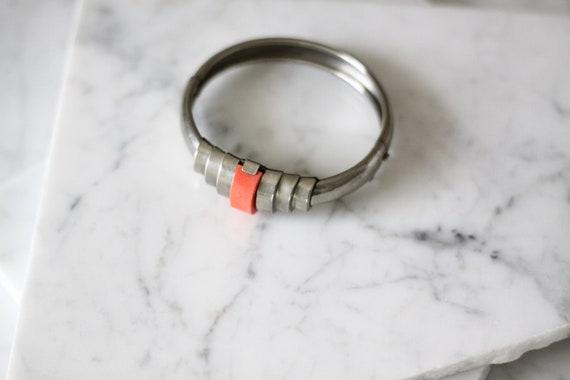 1920s art deco cuff bracelet // 1920s silver bracelet // vintage jewellery
