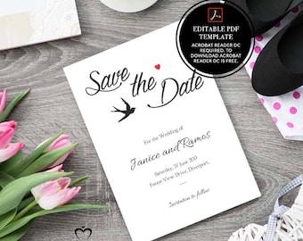 wedding, invitation, rustic save the date, wedding invitation, rustic, printable, save the date card, save the date, dove, bird,heart,pdf,01