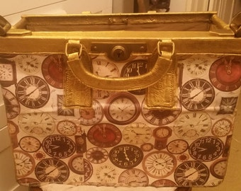 pattern color and vintage wooden chest of gold