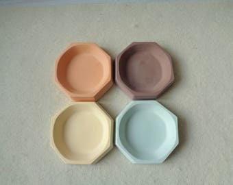 Ring Dish, Geometric Ring Dish, Small Concrete dish