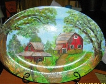 Tobacco Barn Platter