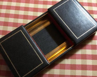 English Country Men Jewelry Valet Dresser Coin Tray Box