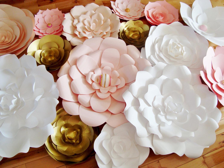 35 Paper Flowers Paper Flower Wall Backdrop For Weddings