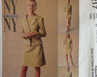 McCalls 9217 the NY New York Collection Suit Separates - Jacket, Top and Bias Cut Skirt - Size 12 14 16