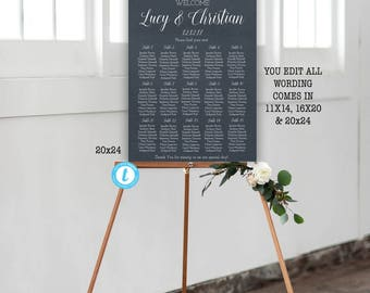 Diy seating chart | Etsy