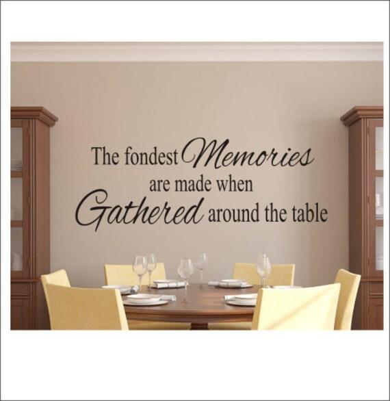 Description The Fondest Memories Decal Vinyl Wall Kitchen Dining Room