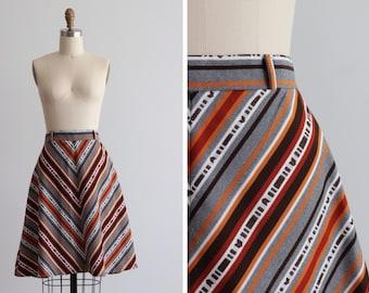 1970s Comanche Skirt / Chevron Skirt
