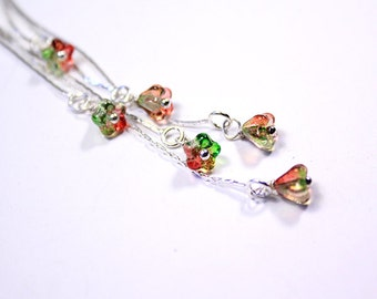 green red earrings silver light green jewelry gift girlfriend graduation long jewelry wife birthday пя73