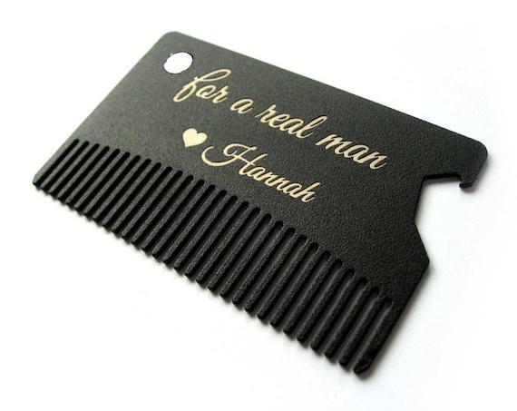 Insert metal card beard comb wallet card business card colourmoves