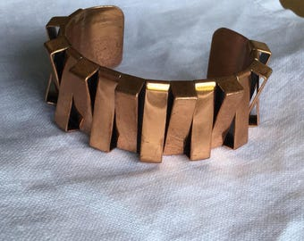 1940s -50s Renoir Cuff  Bracelet  in Geometric Design