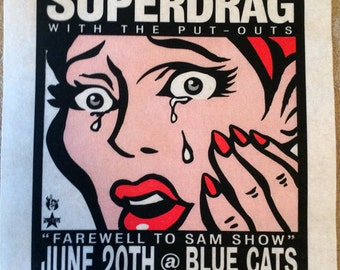 Superdrag screenprint poster 06-20-03
