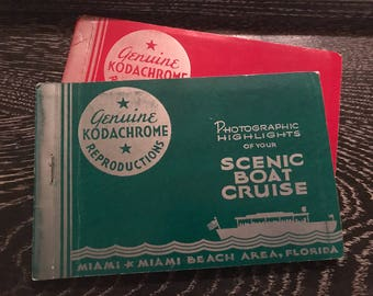 Vintage Florida Kodachrome Reproductions. Miami Florida Souvenir. Vintage Kodachrome Reproductions. Florida Souvenir