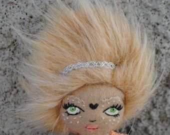 Art Doll/ Brooch / OOAK Little Art Doll