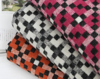 Vintage Check, Warm Wool fabric in 2 colours, 150cm width
