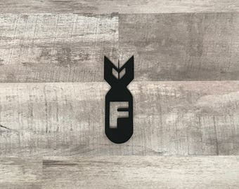 F Bomb Vinyl Decal