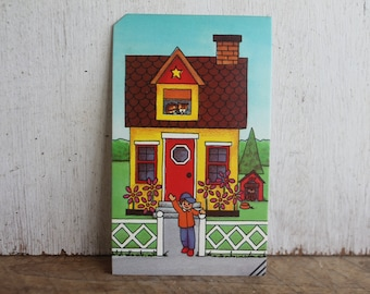 Vintage Flash Card -- Welcome Home