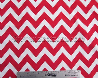 SALE Robert Kaufman REMIX ZIG Zag Ann Kelle Red Chevron - Cotton Quilt Fabric - by the Fat Quarter, Half Yard, or Yard