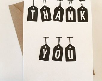 Tag Thank You Card Set of 5
