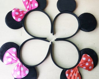 Mickey Mouse Ears Minnie Mouse Headband Mickey Mouse Birthday Minnie Ears Mickey Ears Disney Wedding Favors Mickie Mouse Party Favors Gifts