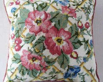 TP 023P Trellis Tapestry Needlepoint Cushion or Footstool Kit
