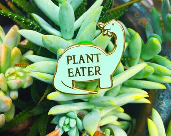 Plant Eater Dinosaur Hard Enamel Pin