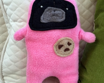 "Nutella - The ""Snackie Time"" Black Pug-Jama Party Bummlie ~ Stuffing Free Dog Toy - Ready To Ship Today ~ Pink Pajamas"