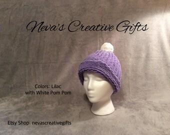 LILAC  -  Cuddly, Warm Blanket Hat