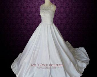 Modest Wedding Dress Sleeveless Princess Ball Gown Wedding Dress | Melanie