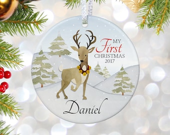Babys First Christmas Decoration, New Baby Ornament, Christmas Ornaments, First 1st Christmas Ornament, Christmas Tree Ornament