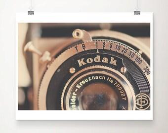 vintage camera photograph kodak camera print lens photograph photographers gift still life photograph silver home decor