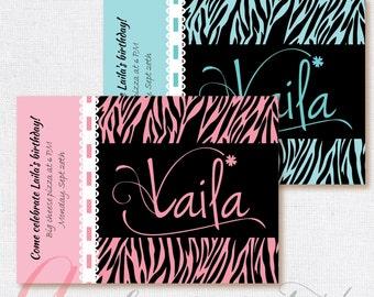 Zebra invitation. Printable zebra invite. Zebra birthday. Zebra Baby Shower invitation. DIY Zebra invite. Printable Zebra invitation.