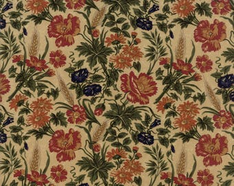 Moda HARVEST HILL Quilt Fabric 1/2 Yard By Kansas Troubles Quilters - Tan 9550 11