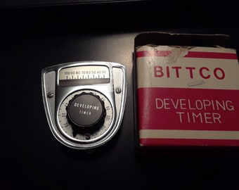 Rare Bittco Developing Timer with Thermometer & Original Red and White Box Japan