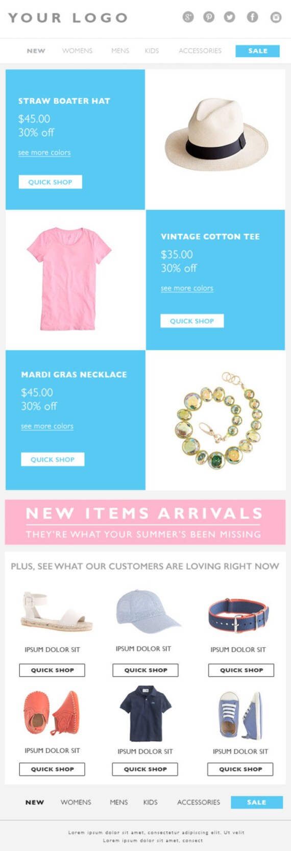 ecommerce email template
