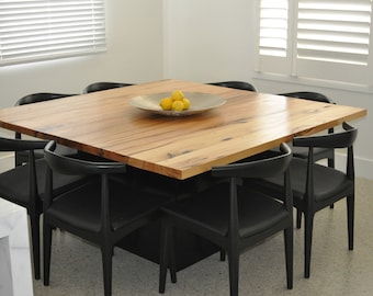 Recycled timber square dining table