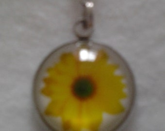 Bright Yellow or Bright Orange Floral Zipper Pull - your choice