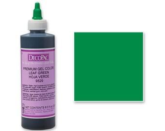 8 OZ Leaf Green Premium Food Coloring Gel/ Green Gel Food Coloring/ Professional Green Food Coloring