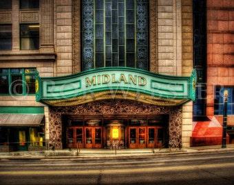 Midland Theater, Kansas City, 8x10 Fine Art HDR Photo Print